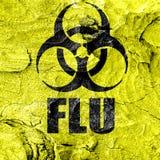 Het conceptenachtergrond van het griepvirus Stock Afbeeldingen