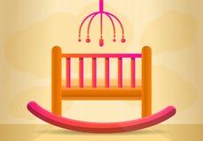 Het conceptenbanner van de babyvoederbak, beeldverhaalstijl stock illustratie