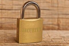 Het conceptenhangslot van de veiligheid Royalty-vrije Stock Foto's