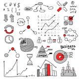 Het conceptenidee van het bedrijfsstrategieplan De elementen van Infographic Royalty-vrije Stock Afbeeldingen