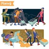 Het conceptenillustratie van de Bitcoinmijnbouw Stock Illustratie