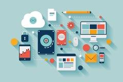Het conceptenillustratie van de gegevensopslag