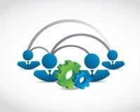 het conceptenillustratie van het mensen industriële netwerk Royalty-vrije Stock Afbeeldingen