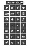 Het conceptenpictogrammen van de autodienst Royalty-vrije Stock Afbeelding