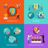 Het conceptenreeks van het intellectuele eigendomontwerp Royalty-vrije Stock Afbeelding
