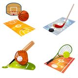 Het Conceptenreeks van het sportmateriaal Stock Afbeelding