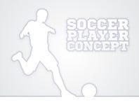 Het Conceptensilhouet van de voetbalvoetbalster Royalty-vrije Stock Foto's