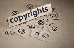 Het conceptensymbool van het auteursrecht stock afbeelding