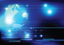 Het conceptentechnologie van de wereld Royalty-vrije Stock Afbeeldingen