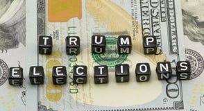 Het conceptenwoorden van de verkiezingstroef Stock Afbeelding