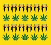 Het Conceptontwerp van de Reggaecultuur Stock Afbeeldingen