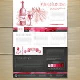 Het conceptontwerp van de waterverfwijn Het ontwerp van de woensdagplaats Royalty-vrije Stock Foto's
