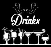 Het conceptontwerp van drankenglazen Royalty-vrije Stock Foto's