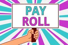 Het conceptuele hand het schrijven tonen betaalt Broodje Bedrijfsdiefoto demonstratiehoeveelheid lonen en salarissen door een bed vector illustratie