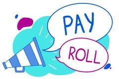 Het conceptuele hand het schrijven tonen betaalt Broodje De Hoeveelheid van de bedrijfsdiefototekst lonen en salarissen door een  royalty-vrije illustratie