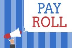 Het conceptuele hand het schrijven tonen betaalt Broodje De Hoeveelheid van de bedrijfsdiefototekst lonen en salarissen door een  vector illustratie