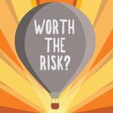 Het conceptuele hand het schrijven tonen met een waarde van de Risicokwestie Bedrijfsfoto die vragend demonstreren of bracht bepa vector illustratie