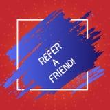 Het conceptuele hand het schrijven tonen verwijst een Vriend De bedrijfsfototekst direct iemand aan een andere of verzendt hem ie royalty-vrije illustratie