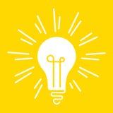 Het conceptuele heldere glanzen lightbulb royalty-vrije illustratie