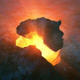 Het conceptuele ontwerp van Afrika Royalty-vrije Stock Fotografie