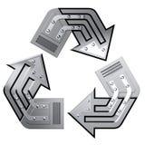 Het conceptuele Symbool van het Recycling Royalty-vrije Stock Foto's
