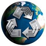 Het conceptuele Symbool van het Recycling Stock Fotografie