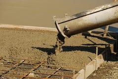 Het concrete Stootkussen giet stock foto's