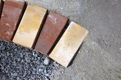 Het concrete werk van het voetpad Stock Foto