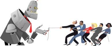 Het concurreren met AI stock illustratie