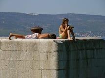 Het conflict van de tiener op de zomervakantie Royalty-vrije Stock Foto
