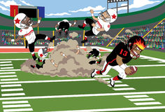 Het Conflict van de voetbal Stock Afbeelding