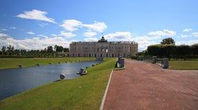 Het Constantine Paleis, Strelna. Rusland stock foto's