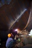 Het construeren van schip in mekong delta Royalty-vrije Stock Afbeeldingen
