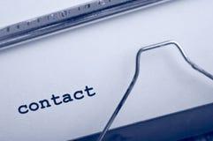 Het contact van de schrijfmachine Royalty-vrije Stock Foto