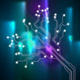 Het contact verbindt Achtergrond toont Verbindingslijnen of Interface Cir Stock Foto