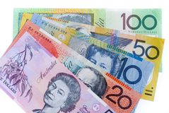 Het contante geld van Aussie Stock Afbeelding