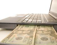 Het contante geld van de computer royalty-vrije stock foto