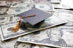 Het contante geld van de graduatie stock afbeeldingen