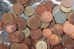 Het contante geld van de muntstukrekening Royalty-vrije Stock Foto's