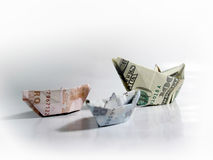 Het contante geld van de slag stock afbeeldingen