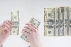 Het contante geld van Handeling stock afbeelding