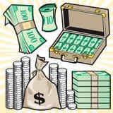 Het Contante geld van het beeldverhaal Royalty-vrije Stock Foto