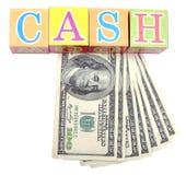 Het contante geld van Word Stock Foto's