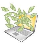 Het contante geldmachine van Internet Stock Afbeeldingen