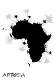 Het continent van Afrika stock illustratie