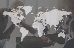 Het Continent van de Busineeswereld Marketing Concept Wereldwijd stock foto