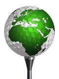 Het continent van Europa en van Afrika op golfbal vector illustratie