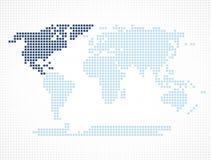 Het continent van Noord-Amerika op de wereldkaart royalty-vrije illustratie