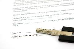 Het contract van de huur Stock Afbeeldingen