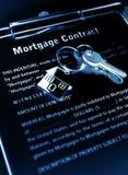 Het contract van de hypotheek Royalty-vrije Stock Afbeeldingen